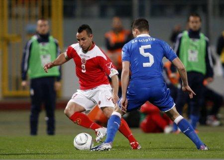 Защитник сборной Мальты плюнул в шотландского футболиста во время матча