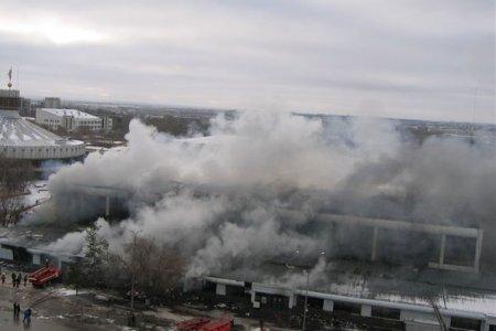 ВКазахстане полыхает торговый центр