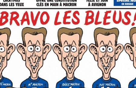 Макрон вместо обезьян. Появилась истинная обложка Charlie Hebdo
