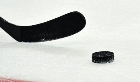 Хоккеист совершил бросок ирасколол шайбу пополам
